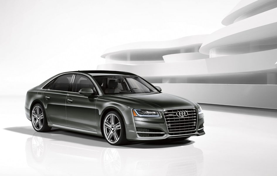 2016 Audi A8 in a white room