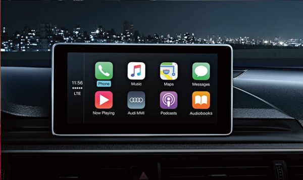 Apple CarPlay on Audi MMI infotainment display